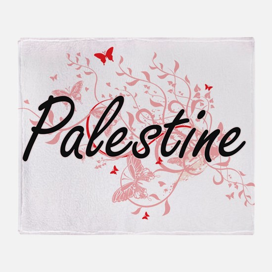 Palestine Artistic Design with Butte Throw Blanket