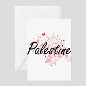 Palestine Artistic Design with Butt Greeting Cards