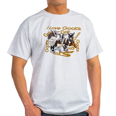 I love Goat Breeds Light T-Shirt
