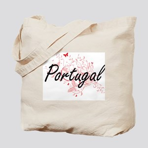 Portugal Artistic Design with Butterflies Tote Bag