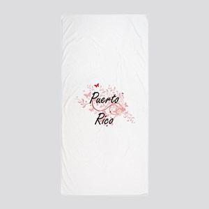 Puerto Rico Artistic Design with Butte Beach Towel