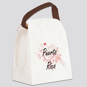 Puerto Rico Artistic Design with Canvas Lunch Bag