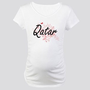 Qatar Artistic Design with Butte Maternity T-Shirt