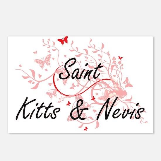 Saint Kitts & Nevis Artis Postcards (Package of 8)