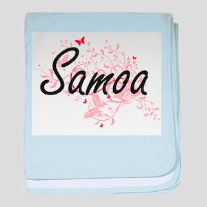 Samoa Artistic Design with Butterflie baby blanket