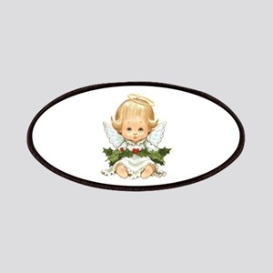 Cute Christmas Baby Angel And Holly Patch