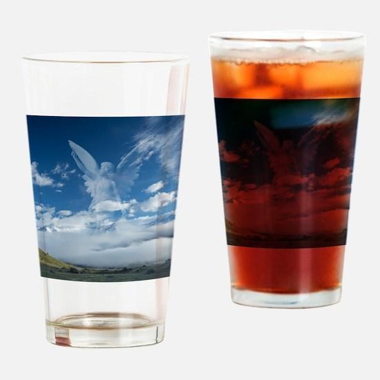Cute Angel Drinking Glass