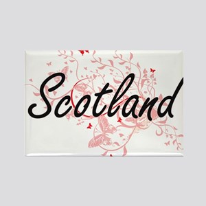 Scotland Artistic Design with Butterflies Magnets