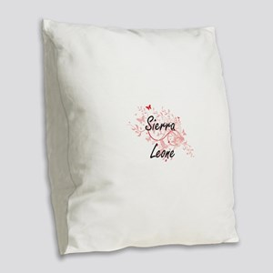 Sierra Leone Artistic Design w Burlap Throw Pillow