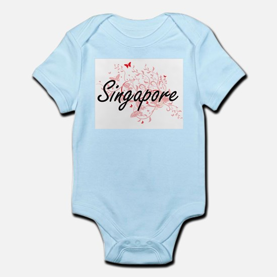 Singapore Artistic Design with Butterfli Body Suit