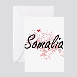 Somalia Artistic Design with Butter Greeting Cards