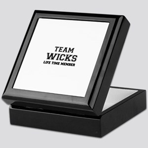 Team WICKS, life time member Keepsake Box