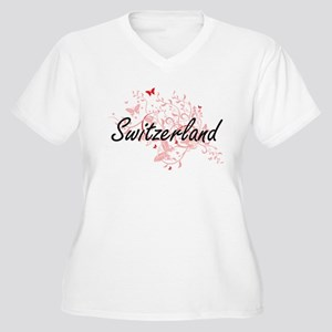 Switzerland Artistic Design with Plus Size T-Shirt