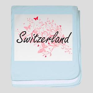 Switzerland Artistic Design with Butt baby blanket