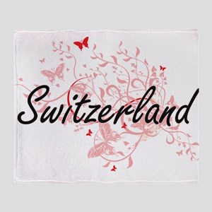 Switzerland Artistic Design with But Throw Blanket