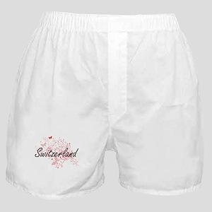 Switzerland Artistic Design with Butt Boxer Shorts