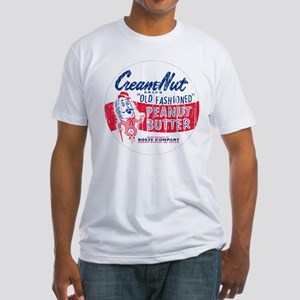Cream Nut Peanut Butter 50's  Fitted T-Shirt