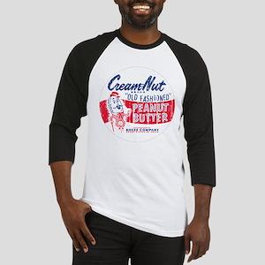 Cream Nut Peanut Butter 50's  Baseball Jersey