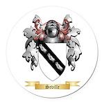 Seville Round Car Magnet