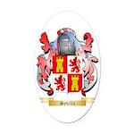 Sevilla Oval Car Magnet