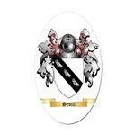 Sevill Oval Car Magnet