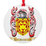 Seton Round Ornament
