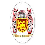 Seton Sticker (Oval 50 pk)