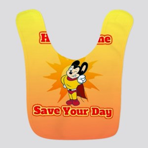 Here I Come To Save Your Day Mighty Mouse Bib