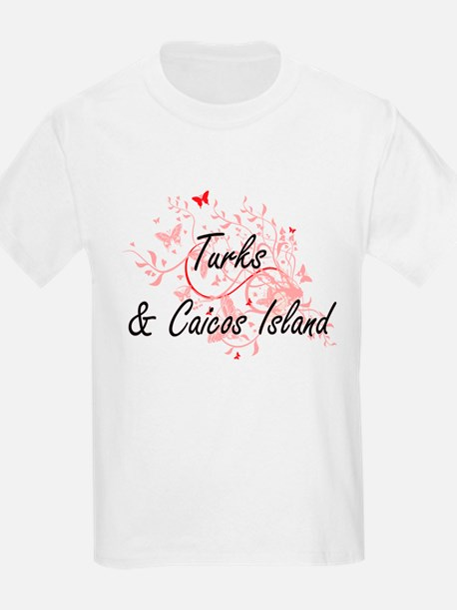 Turks & Caicos Island Artistic Design with T-Shirt