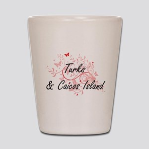 Turks & Caicos Island Artistic Design w Shot Glass