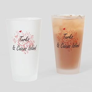 Turks & Caicos Island Artistic Desi Drinking Glass