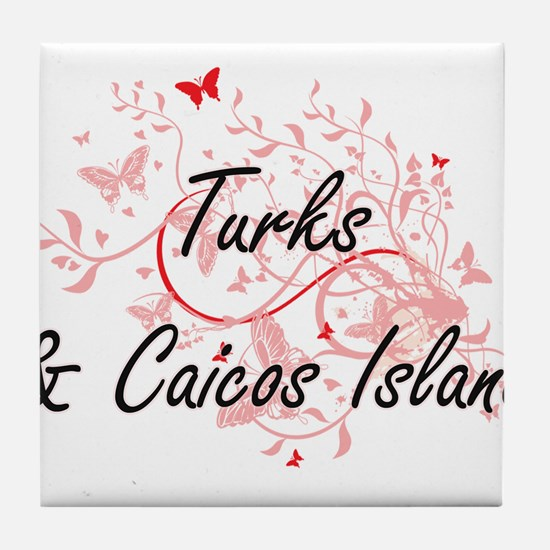 Turks & Caicos Island Artistic Design Tile Coaster