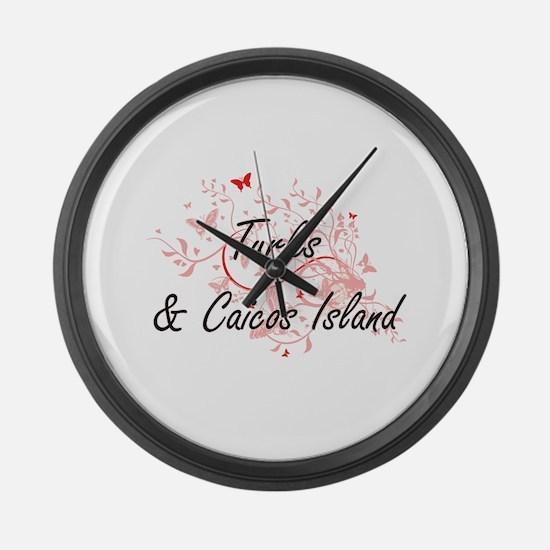 Turks & Caicos Island Artistic De Large Wall Clock