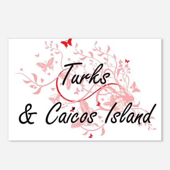 Turks & Caicos Island Art Postcards (Package of 8)