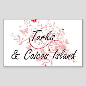 Turks & Caicos Island Artistic Design with Sticker