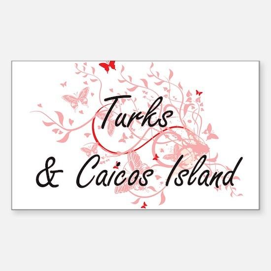 Turks & Caicos Island Artistic Design with Decal