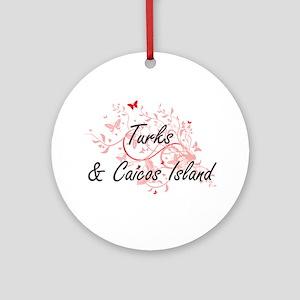 Turks & Caicos Island Artistic Desi Round Ornament