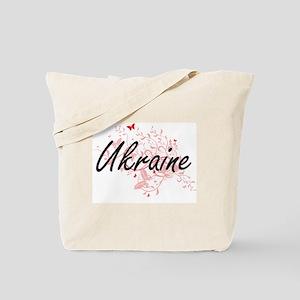 Ukraine Artistic Design with Butterflies Tote Bag