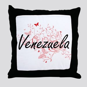 Venezuela Artistic Design with Butter Throw Pillow