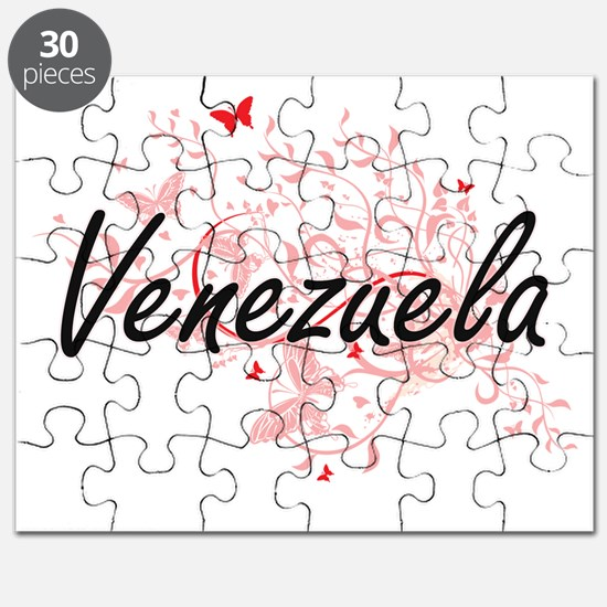 Venezuela Artistic Design with Butterflies Puzzle