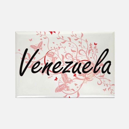 Venezuela Artistic Design with Butterflies Magnets