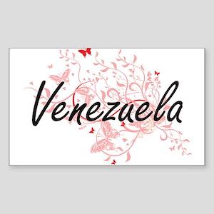 Venezuela Artistic Design with Butterflies Sticker