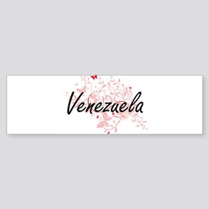 Venezuela Artistic Design with Butt Bumper Sticker