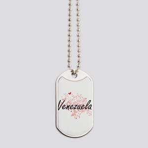 Venezuela Artistic Design with Butterflie Dog Tags