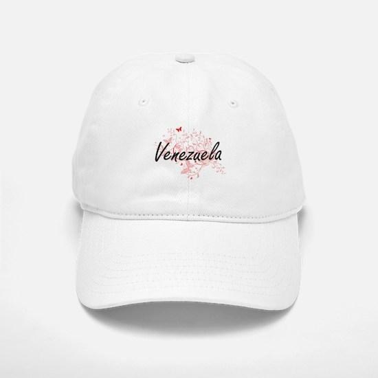 Venezuela Artistic Design with Butterflies Baseball Baseball Cap