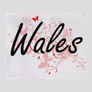 Wales Artistic Design with Butterfli Throw Blanket