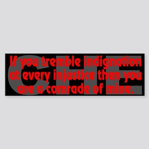 Che Guevara Quote: indignation - Bumper Sticker