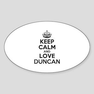 Keep Calm and Love DUNCAN Sticker
