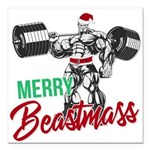 Merry Beastmass Square Car Magnet 3