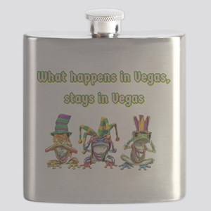 No Evil Vegas Frogs Flask